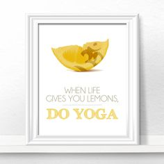 Yoga Print Yoga Studio Decor Typography by LotusLeafCreations, $12.00