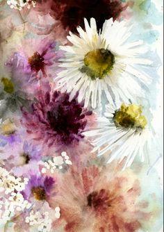 Luli Sanchez Watercolour Flowers