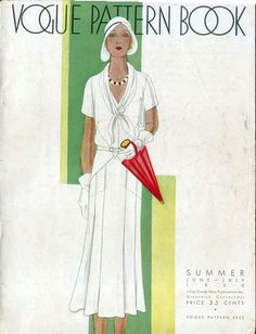 Vogue Pattern Book, June-July 1930, featuring Vogue 5232