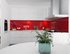 """Check out new work on my @Behance portfolio: """"Red and white kitchen"""" http://be.net/gallery/33304087/Red-and-white-kitchen"""