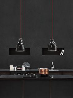 Caravaggio Black P2 designed by Cecilie Manz http://www.lightyears.dk/lamps/pendants/caravaggio-black/caravaggio-p2.aspx