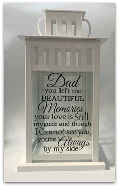 Excited to share this item from my shop: Memorial Lantern, Loss of Father, Loss of Dad, Memory Memorial Gifts, Memorial Ideas, Memorial Candles, Memorial Quotes, In Memory Of Dad, In Memory Gifts, Loss Of Dad, Remembering Dad, Bereavement Gift