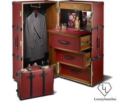 Chivas Made for Gentlemen by Globe-Trotter Steamer Trunk and Limited Edition 20_ Carry-On Case