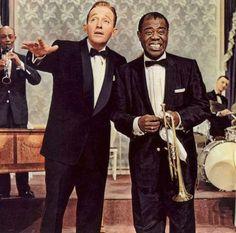 """Bing Crosby y Louis Armstrong en """"Alta Sociedad"""", 1956"""