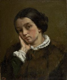 Gustave Courbet  Portrait of Zélie Courbet