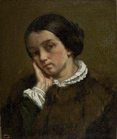 Gustave Courbet  Portrait of Zélie Courbet