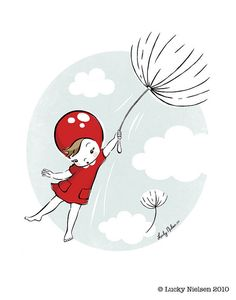 Make a wish and we will fly to it on a dandelion,,, Maybe make her outfit a lady bug