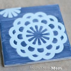 Architecture of a Mom: Paper Doily Tile Coasters DIY