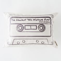 Custom Mixtape Pillow | Brit + Co. Shop | DIY Online classes, DIY kits and creative products from makers you'll love.