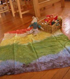 DIY rainbow silk - dyed with koolaid