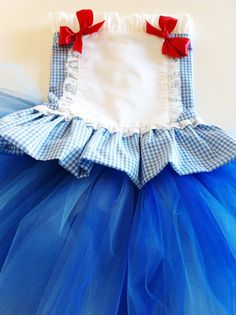 first birthday Disney Vacation Tutu  costume wizard of Oz DOROTHY Alice in wonderland corset dress outfit sz  6 mos 1,2,3,4,5. $50.99, via Etsy.