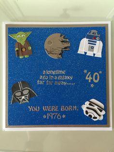 Star Wars character birthday card