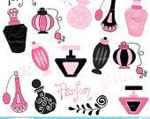Sale 40% OFF Parisian perfume clipart commercial use, vector graphics, digital clip art, digital images - PGCLPK308