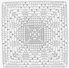 "Photo from album ""Decorative Crochet 20 on Yandex. Crochet Diy, Filet Crochet, Crochet Afghans, Crochet Home, Thread Crochet, Crochet Stitches, Point Granny Au Crochet, Granny Square Crochet Pattern, Crochet Blocks"