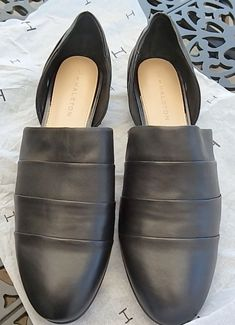 bfa083ead13e H by Halston Leather Women s shoes Black Business casual size 11 Med   fashion  clothing