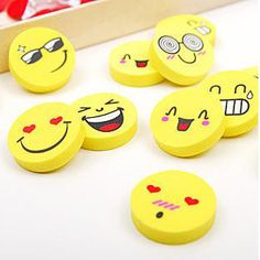 4 Pcs/lot Smile Face Erasers Rubber For Pencil Kid Funny Cute Stationery Novelty Eraser Office Accessories School Supplies C-008 #>=#>=#>=#>=#> Click on the pin to check out discount price, color, size, shipping, etc. Save and like it!