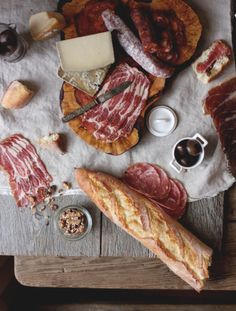 What do I see? Prosciutto, salami, cheeses and some olives...beer please.