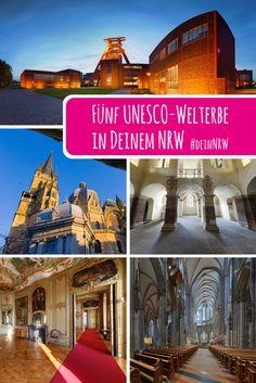 Der Aachener Dom, der Kölner Dom, Schloss Corvey, Schloss Augustusburg mit Schloss Falkenlust und Zeche Zollverein – das sind die fünf UNESCO-Weltkulturerbe in Deinem NRW. #deinnrw © Tourismus NRW