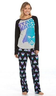 Star Wars Pajamas: Knit Top & Pants Pajama Set - Juniors by Richard Leeds International Onesie Pajamas, Cute Pajamas, Pajamas Women, Pyjamas, Comic Style, Star Wars Pajamas, Short Girl Fashion, Star Wars Outfits, Star Wars Girls