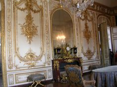 The Council study, King's Chamber, Palace of Versailles, France Palace Of Versailles, Marie Antoinette, Decoration, Mosques, Cathedrals, Interior Decorating, Castles, Mansions, Theatre
