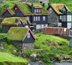 The remote village of Stykkið on the west coast of Faroe Islands...