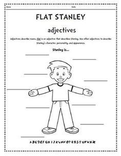 flat stanley activity sheets | Flat Stanley adjectives, acrostic, bookmarks, bingo, envelope ...