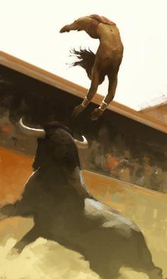 Minoan Bull Leaper by EllenBarkin on DeviantArt
