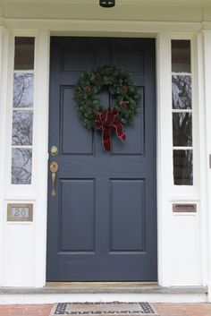 Image result for gray blue front door