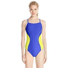 Speedo Women's Power Flex Eco Revolve Splice Energy Back One Piece Swimsuit -- Learn more by visiting the image link. (This is an affiliate link) #Swimwear