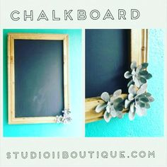 Great rustic chalkboard with handmade metal flower detail.  #Studio11boutique #Beunique