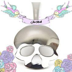 Cool Skull Spoon/ Dinnerware/ Sugar-Tea-Coffee-Hot Chocolate-Dessert Spoon/Punk/ Goth/Dark by JerBrill on Etsy