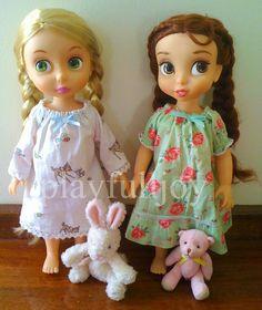 playfulljoy: Disney Animators Doll Clothes- Dresses Vintage Style