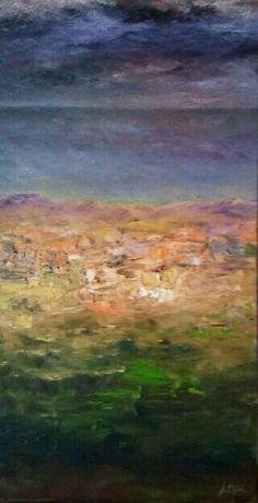 Oil on wooded board by Jesús Ojeda.