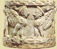 Ivory pyxis (jewel box) from a tomb at Thebes,  Mycenaean period, 13th century BC.