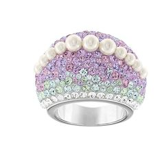 d2a1770dc NIB $199 Swarovski Calista Chic Ring Watercolor Pearl Size 58/8/L #5139711