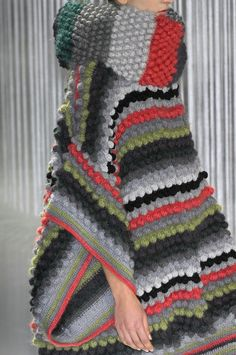 Kenzo Fall 2008 Runway. Good use of texture from the crochet stitches. Colors are nice too.