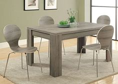 Monarch Reclaimed-Look Dining Table, 36 by 60-Inch, Dark Taupe Monarch http://www.amazon.com/dp/B00FHXGHW0/ref=cm_sw_r_pi_dp_DNzAvb09ZPKSN
