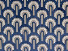 Blue art deco fabric For head board