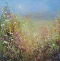"""""""an uneasy dream, in which he walked on the grass in his garden in the Shire, but it seemed faint and dim."""" (Art by Amanda Hoskin) Paintings I Love, Beautiful Paintings, Drawing Artist, Painting & Drawing, Landscape Art, Landscape Paintings, Crayons Pastel, Flower Background Wallpaper, Watercolor Flowers"""