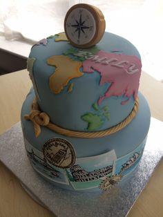 Geography cake