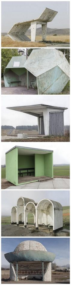 Soviet bus stop photos by Christopher Herwig. Click image for link to full site and visit the slowottawa.ca boards >> https://www.pinterest.com/slowottawa/