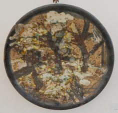 Червяков А.Д. Блюдо «Мокрый март» D35 см шамот, цв. массы, стекло