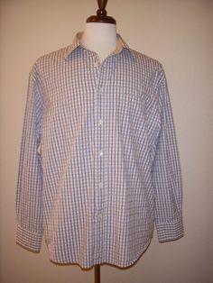 FACONNABLE JEANS FACO CLUB SHIRT Plaid Check XL #Faonnable #ButtonFront
