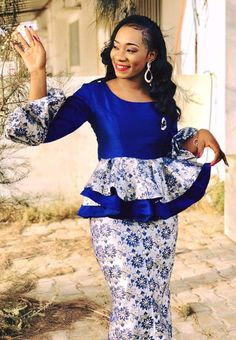 latest ankara skirt and blouse styles for ladies: Fabulous ankara skirt and blouse you should rock for parties African Fashion Ankara, Latest African Fashion Dresses, African Print Dresses, African Print Fashion, African Dress, African Attire, African Wear, Nigerian Dress, African Blouses