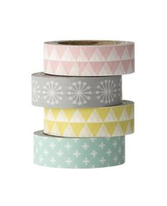 Washi tape estampados pasteles