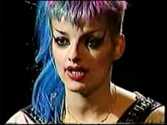 ▶ The raucous Nina Hagen describes her spiritual beliefs to Merle Ginsberg. Videowave is a TV and Internet program featuring music ignored by the mass media. This is just an excerpt of a longer piece.
