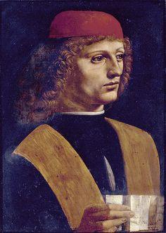 Leonardo - Portrait of a musician (~1490) #TuscanyAgriturismoGiratola