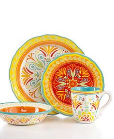 EuroCeramica Dinnerware, Egyptian Collection - Casual Dinnerware - Dining & Entertaining - Macy's