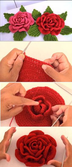 Crochet the Giant Rose Step by Step tutorial, one more beautiful rose to crochet. - - Crochet the Giant Rose Step by Step tutorial, one more beautiful rose to crochet with the instructions Crochet Puff Flower, Bag Crochet, Crochet Flower Tutorial, Crochet Flower Patterns, Crochet Patterns Amigurumi, Crochet Gifts, Crochet Flowers, Crochet Stitches, Knitting Patterns