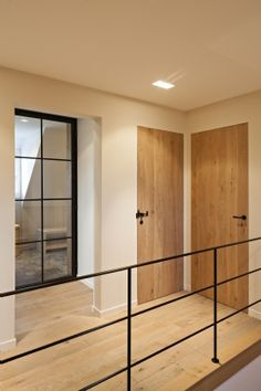 Hall with wooden floor and steel balustrade- Hal met houten vloer en stalen balu. Hall with wooden floor and steel balustrade - Hall with wooden floor and steel balustrade Hall with wooden floor and Steel Balustrade, House Design, House, House Inspiration, New Homes, House Interior, Home Deco, Home Interior Design, Rustic House
